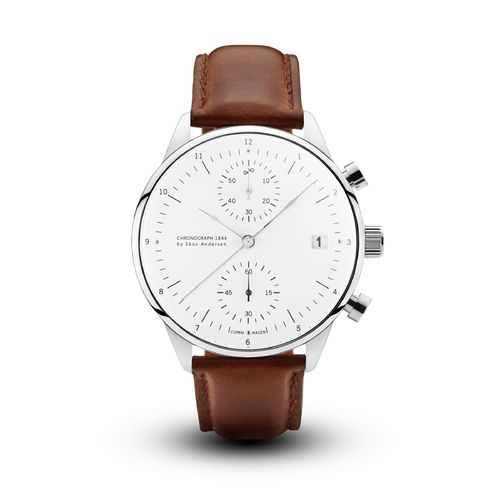 ABOUT VINTAGE 1844 CHRONOGRAPH BROWN STRAP