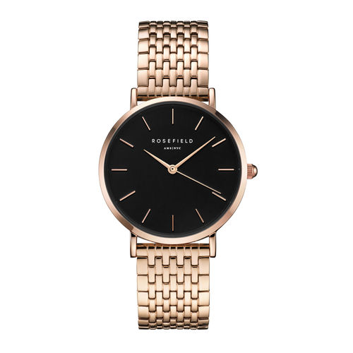 ROSEFIELD - UPPER EAST SIDE Schwarz - Roségold / 33mm -  UEBR-U23