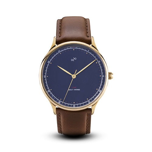 ABOUT VINTAGE 1969 VINTAGE, GOLD / MIDNIGHT BLUE - 39 mm