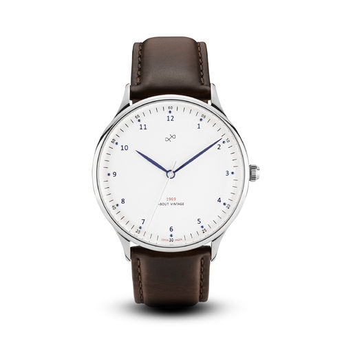 ABOUT VINTAGE 1969 VINTAGE, STEEL/ WHITE  - 39 mm