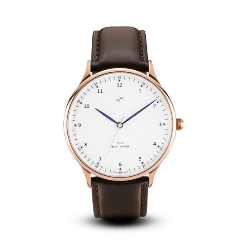 ABOUT VINTAGE 1969 VINTAGE, ROSE GOLD / WHITE - 39 mm