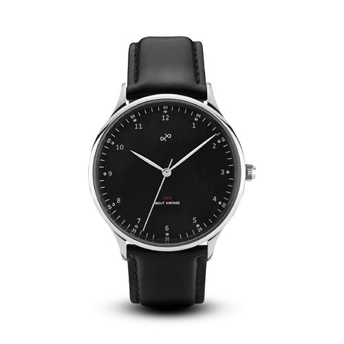 ABOUT VINTAGE 1969 VINTAGE, STEEL / BLACK - 39 mm