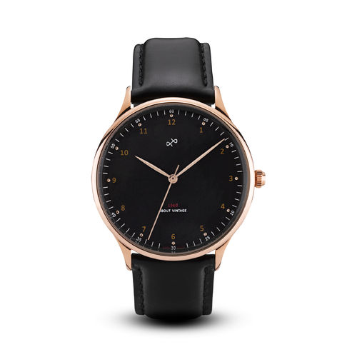 ABOUT VINTAGE 1969 VINTAGE, ROSE GOLD / BLACK - 39 mm