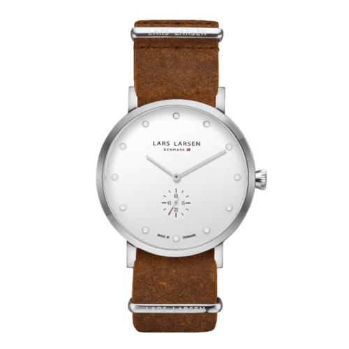 CHRISTOPHER SILVER/WHITE COGNAC LEATHER