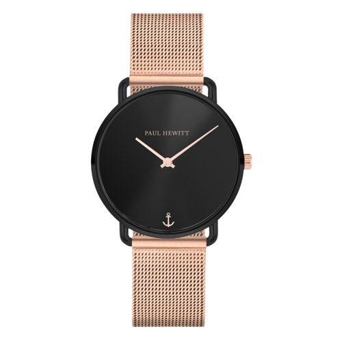 PAUL HEWITT - MISS OCEAN - Black Sunray Roségold Mesh / 33 MM