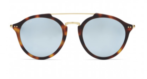 KAPTEN & SON - FITZROY Matt Tortoise Blue Mirrored