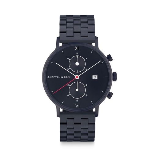 "KAPTEN & SON - CHRONO BLACK ""Midnight Steel"""