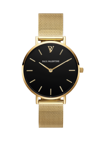PEARL GOLD MESH - gold/ schwarz/ gold - 32 MM