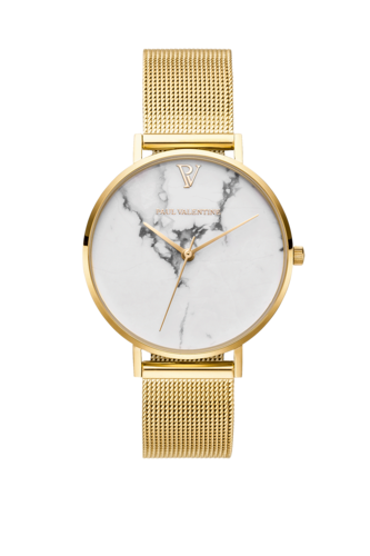 WHITE MARBLE GOLD MESH - gold/ marmor/ gold - 32 MM