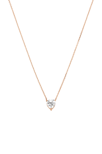 PAUL VALENTINE - DIAMOND HEART NECKLACE ROSÉGOLD