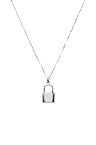 PAUL VALENTINE - PADLOCK NECKLACE SILVER