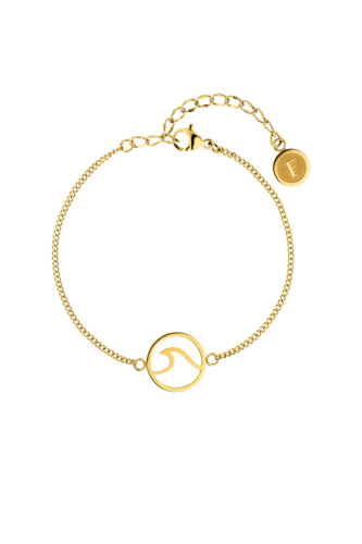 PAUL VALENTINE - WAVE BRACELET GOLD