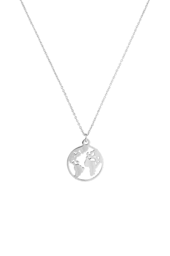 PAUL VALENTINE - WORLD NECKLACE SILVER