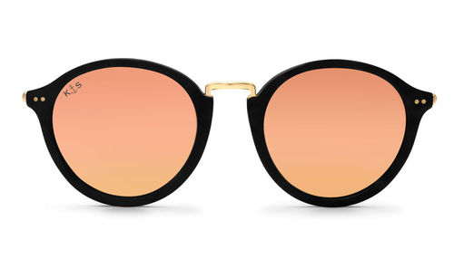"KAPTEN & SON - MAUI ""matt black peach mirrored"", Sonnenbrille"