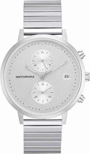 WATCHPEOPLE / COSMO FLEX - silber/ silber/ silber - 40 MM