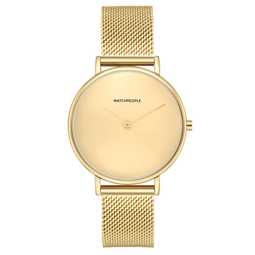 WATCHPEOPLE / YES MINIMAL MESH - gold/ gold/ gold - 35 MM