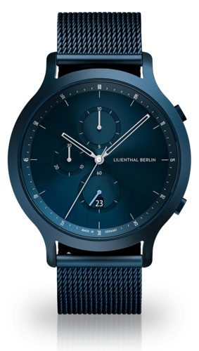 LILIENTHAL BERLIN - CHRONOGRAPH - MESH - all blue - 42,5 MM
