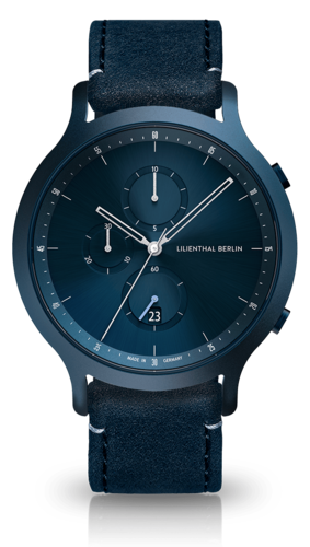 LILIENTHAL BERLIN - CHRONOGRAPH - all blue - 42,5 MM
