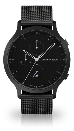 LILIENTHAL BERLIN - CHRONOGRAPH - MESH - all black - 42,5 MM
