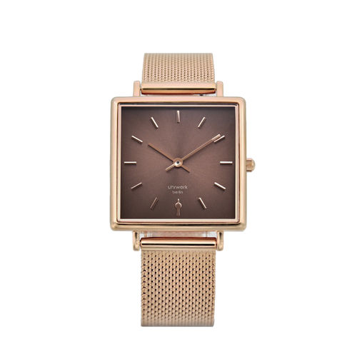 UHRWERK BERLIN - MERLE MESH - Rose Gold - Chocolate - Rose Gold / 28,5 mm