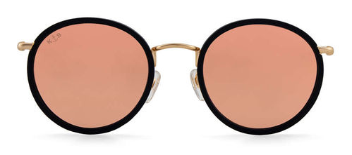 "KAPTEN & SON - AMSTERDAM ""matt black peach mirrored"", Sonnenbrille"