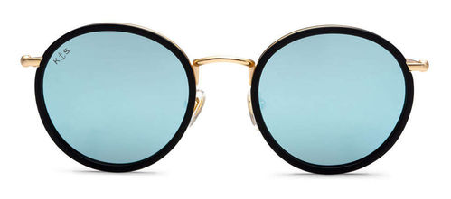"KAPTEN & SON - AMSTERDAM ""matt black blue mirrored"", Sonnenbrille"