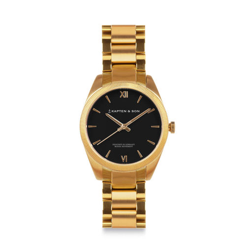 KAPTEN & SON - CRUSH gold - black steel, Unisex