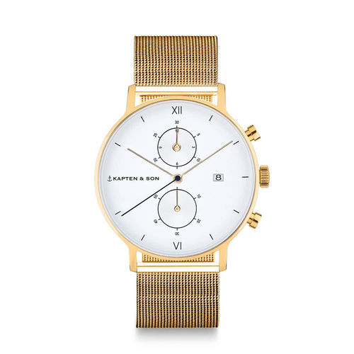 "KAPTEN & SON - CHRONO GOLD ""Mesh"""