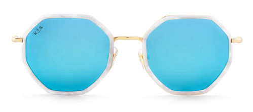 "KAPTEN & SON - BARCELONA ""pearl blue mirrored"", Sonnenbrille"