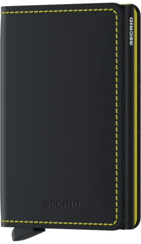 SECRID SLIMWALLET - MATTE Black Yellow