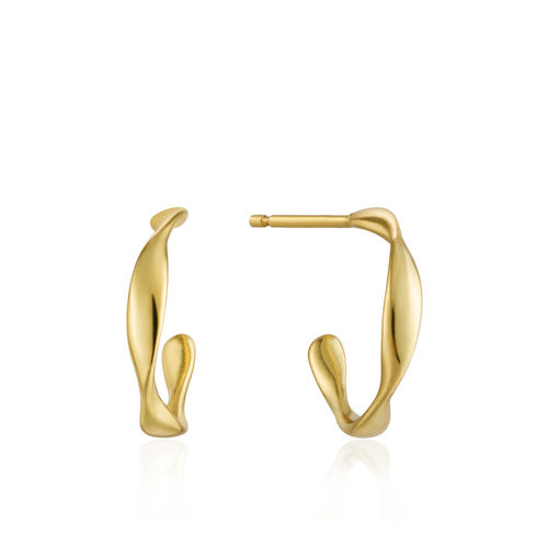"ANIA HAIE - ""TWIST MINI HOOP OHRRINGE"" - gold"
