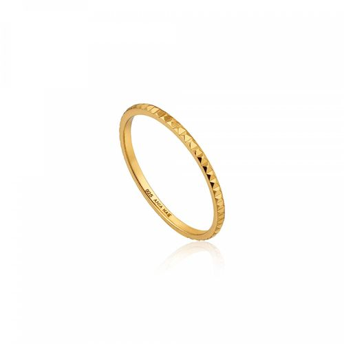 "ANIA HAIE - ""GOLD TEXTURE BAND RING"" - gold"