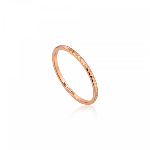 "ANIA HAIE - ""ROSE GOLD TEXTURE BAND RING"" - rose gold"