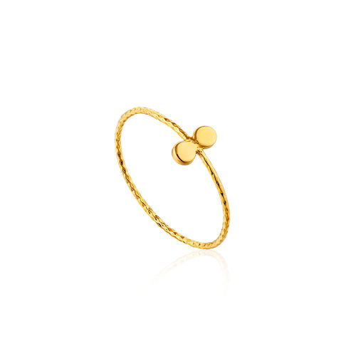 "ANIA HAIE - ""GOLD TEXTURE DOUBLE DISC RING"" - gold"