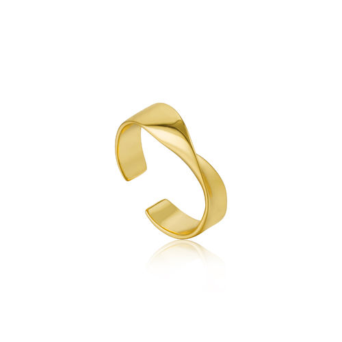 "ANIA HAIE - ""HELIX ADJUSTABLE RING"" - gold"