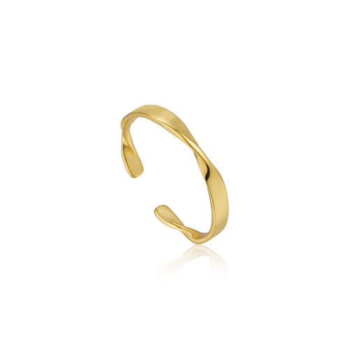"ANIA HAIE - ""HELIX THIN ADJUSTABLE RING"" - gold"