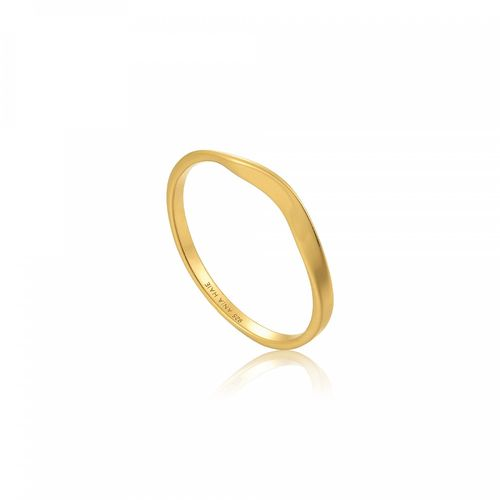 "ANIA HAIE - ""MODERN CURVE RING"" - gold"