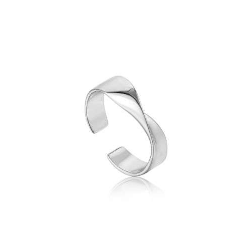 "ANIA HAIE - ""HELIX ADJUSTABLE RING"" - silber"