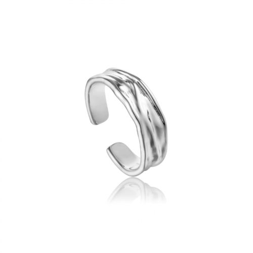 "ANIA HAIE - ""SILVER CRUSH ADJUSTABLE RING"" - silber"