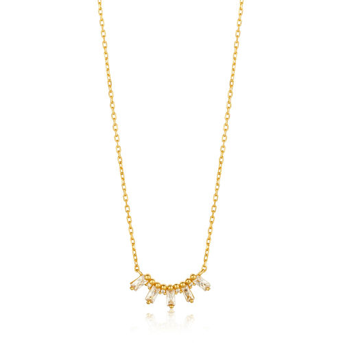 ANIA HAIE - GLOW SOLID BAR NECKLACE - gold