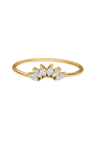 PAUL VALENTINE- PENELOPE RING 18K GOLD PLATED