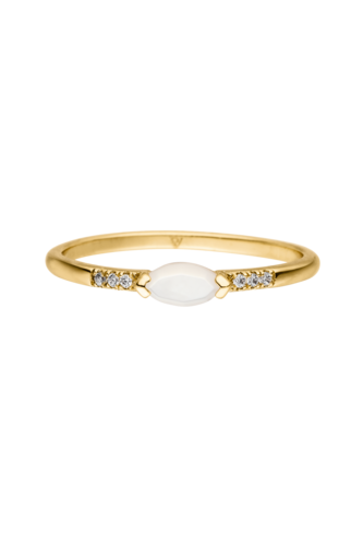 PAUL VALENTINE - AMATHEA RING 18K GOLD PLATED
