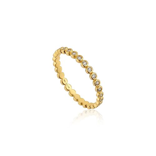 "ANIA HAIE - ""SHIMMER HALF ETERNITY RING"" - gold"