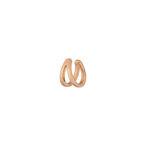 "LEAF - ""EARCUFF DOUBLE LINE"" - 18 K Rosegold vergoldet, 10 mm"