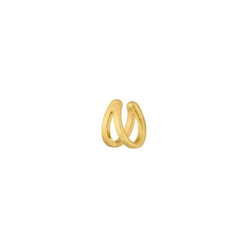 "LEAF - ""EARCUFF DOUBLE LINE"" - 18 K Gelbgold vergoldet, 10 mm"