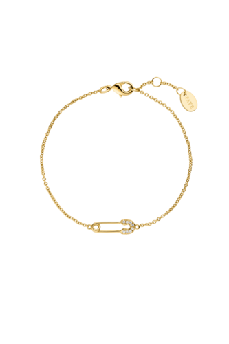 PAUL VALENTINE - SAFETY PIN BRACELET -  Gold Plated